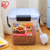 Iris Alice dog food bucket delivery dog food spoon capacity 3-4kg household trumpet full seal barrel