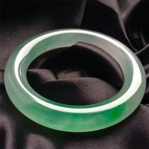 Flottant jade bracelet de haute qualité de la glace homme Yang Vert Femme Bijoux Myanmar a marchandises naturel véritable ronde bracelet