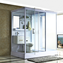Shower room Overall bathroom household partition all-in-one tempered glass door dry and wet separation toilet bath room