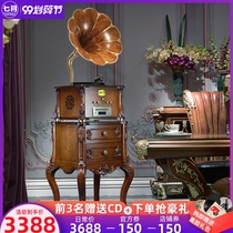July home ancient adhesive machine European-style living room home audio solid wood American imitation old-style vinyl recorder
