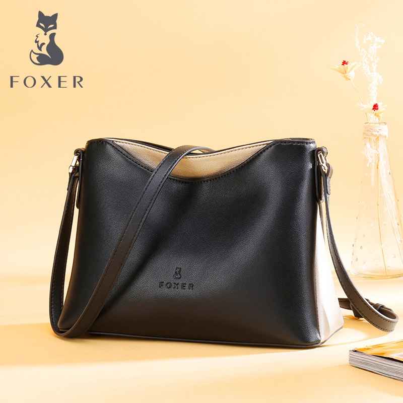 Golden Fox bag female 2018 new simple wild atmosphere Europe and the United States retro leather soft leather Messenger bag female bag