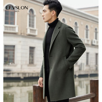 Double-sided? wool woolen Korean version of the British cashmere trench coat