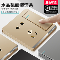 International Electrician Type 86 dark switch socket panel porous home with a 55-hole USB wall socket