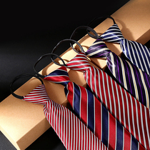 Childrens tie striped baby tie boys school uniform British style show zipper section of childrens suits primary school students