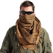 Thickened Arabic scarf Turban Spring and autumn outdoor male and female tactical scarf neck windproof and warm