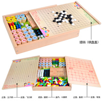 Flying Chess Kids Checkers Wooden Multifunctional game chess five chess chess play chess puzzle Adult Toys