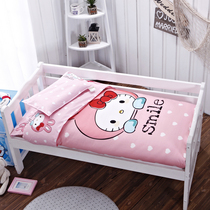 Cotton cartoon nursery quilt three piece set containing the core summer NAP cotton custom child child female bedding set mattress