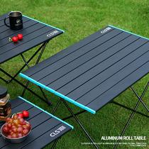 En plein air en aluminium Table pliante camping portable pique-nique barbecue table simple grande table camping Table en aluminium