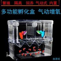 Suspended pneumatic built-in maternity room hatching isolation box double-decker larvae protection box fish tank tropical small fish production room
