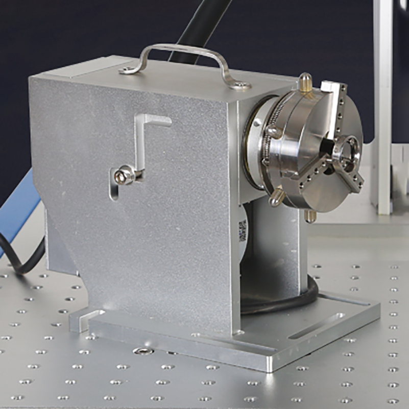 Blue laser marking machine dedicated rotating shaft ring inside and outside inscription