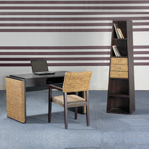 Rattan book and chair combination rattan Bookcase rattan desk rattan art dining chair rattan lounge chair