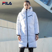 b5796ce84c5c FILA Red series of new female down jacket simple long section of sports  down jacket