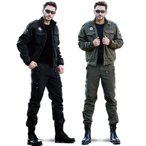 Spring and autumn outdoor camouflage Field Service Special forces as a training Service military fan 101 Airborne Division casual Tooling Jacket Set