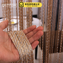 Encrypted silver wire curtain door curtain partition curtain Korean-style metaphysical curtain bedroom living room decorative wall curtain hanging curtain