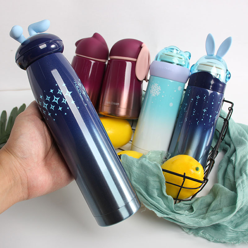 Star rabbit rabbit insulation cup personality cute girl portable water cup small fresh creative trend schoolgirl insulation bottle