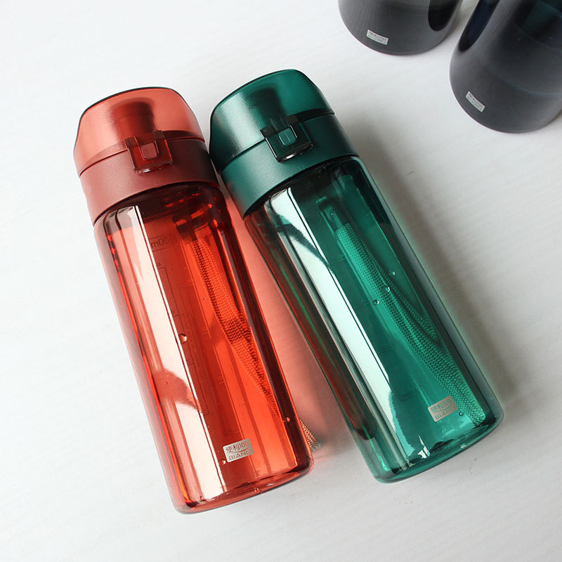 Cant break the space cup summer straight drink with scale plastic water cup simple outdoor sports portable accompanying cup