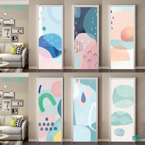 Geometric Abstraction Popper Wind Sticker Wood Door Renovation Self-adhesive Waterproof Glass Sticker Customized Decoration Cabinet Door Sticker Wardrobe Door