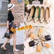 Hidden mouth single shoes women's shoes 2017 new Chinese version of the spring mother's shoes