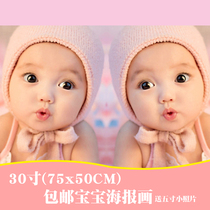 Doll picture baby picture Wall sticker baby poster fetal hanging picture doll sticker Wedding room dragon and Phoenix fetal portrait