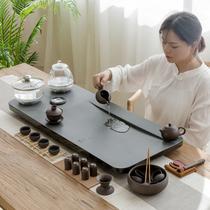 Wu Jinshi tea tray set Automatic one-piece induction cooker boiling water tea table Set tea set Stone Tea Ceremony Kung Fu tea