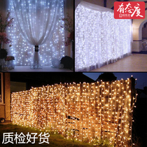 Falls led star curtain lights lights lights light chain anchor background decorating the room layout ideas-bedroom