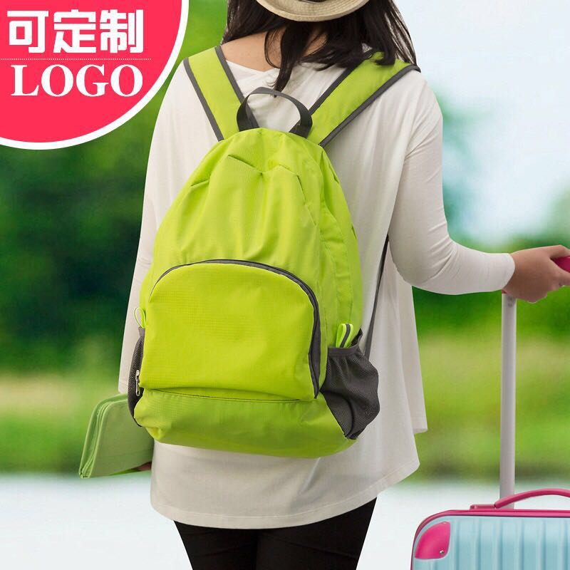 Outdoor Portable Waterproof Tourist Ultra-thin Foldable Customized Shoulder Backpack for Men and Women