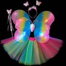 Christmas New Year childrens costume Angel butterfly wings Four pieces set flower fairy animal prop Wings