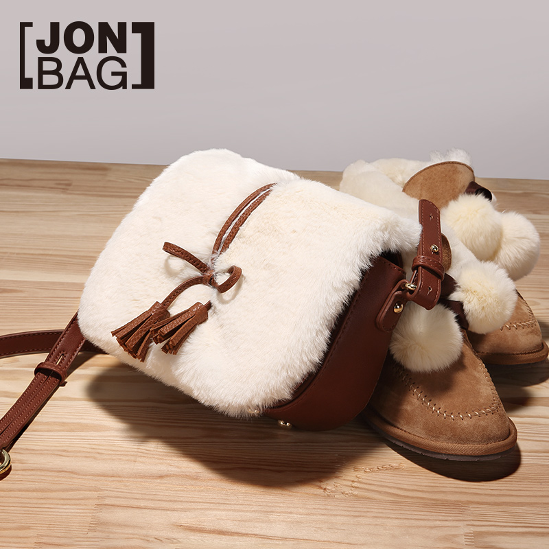 Autumn and winter small bag 2018 new wave Korean version of the atmosphere wild fashion single shoulder slung hairy female bag cute Meng