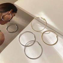 Earring women 2020 new fashion big ring round earring 2021 European temperament senior sense web celebrity earring accessories
