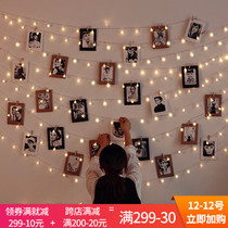 Creative DIY bedroom photo Wall hemp Rope clip simple modern photo wall hanging no trace nail combination decorations