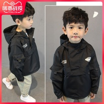 Mick Beaver childrens clothing 2020 spring new boy foreign wind coat Korean version of children in the long shirt spring jacket