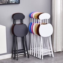 Stacked chair home dining chair lazy portable casual stool back chair dormitory chair simple computer chair stacked stool