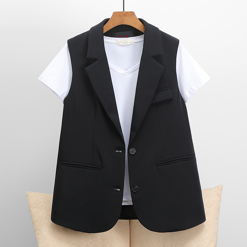 2021 new style waistcoat women wear wild spring Korean version of the suit women show thin horse clip coat women spring and autumn