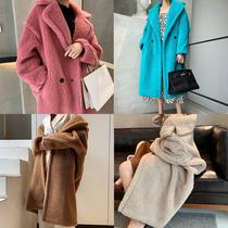 Wilk factory custom M home teddy bear coat fur woman medium long wool coat fur one Liu Tao the same model