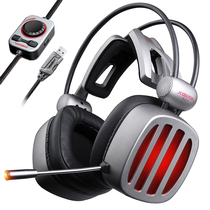 Siberia S21 gaming USB eat chicken headset 7 1 wire control Jedi Survival dedicated listening to sound