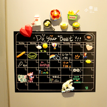 New minimalist creative magnetic erasable soft whiteboard refrigerator stickers magnetic home magnetic calendar memo board