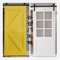 Barn door indoor door shift door hanging rail pulley sliding door kitchen door bathroom door glass door wooden door