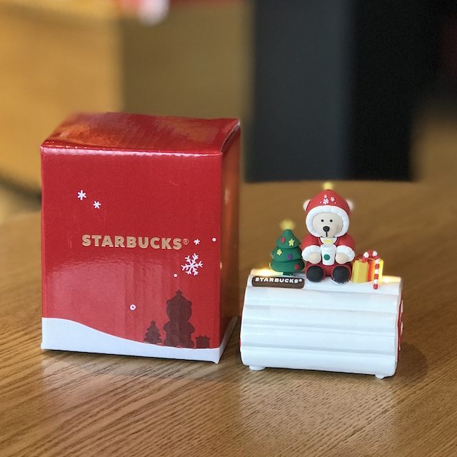 New Starbucks China 2017 Christmas Scarf Snowman Storage Can