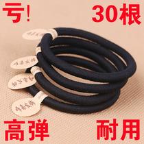 Korean high elastic hair rope thick seamless hair ring Black rubber band tie hair head rope Durable hair ornament