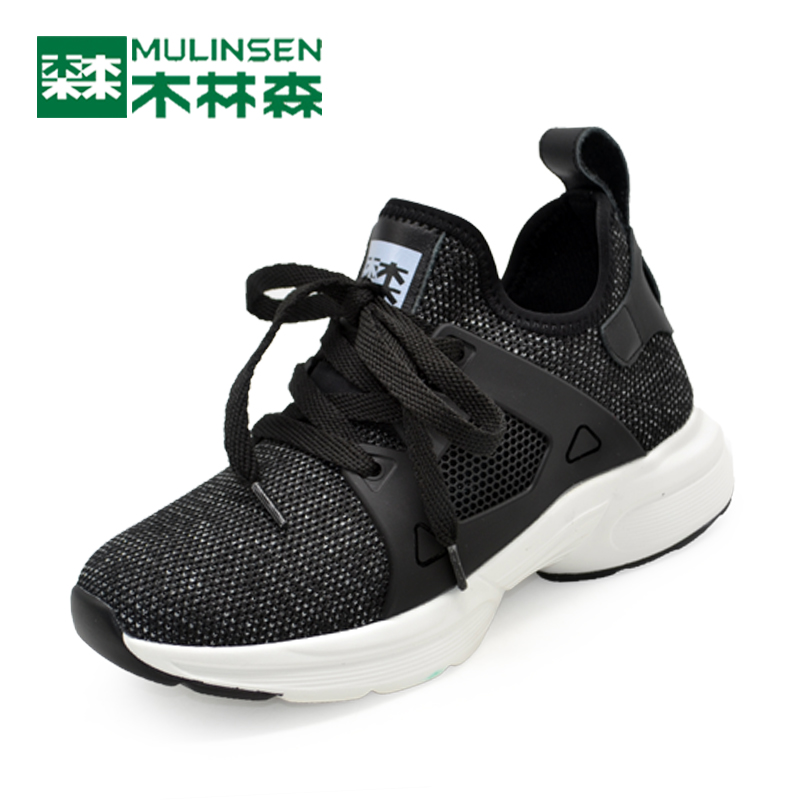 Mulinsen women's shoes 2018 spring new trend ladies sports shoes fashion breathable shoes round head running shoes mesh shoes