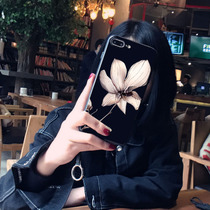 Japan and South Korea luxury vivoy67 mobile phone shell art flower VIVOy66 protective cover drop-proof all-inclusive Black relief female