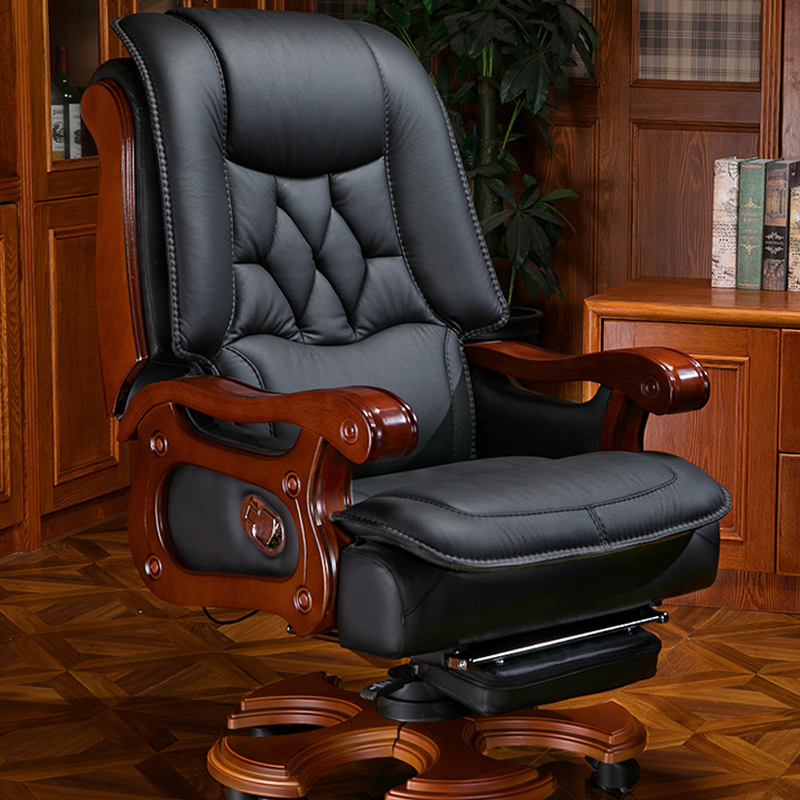 Newmay boss chair business home office chair can lie massage computer chair leather old chair swivel chair big class chair