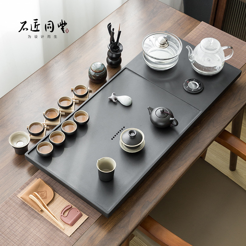 Wujin stone tea plate set fully automatic coffee table kettle all-in-one induction tea stove set home tea tray