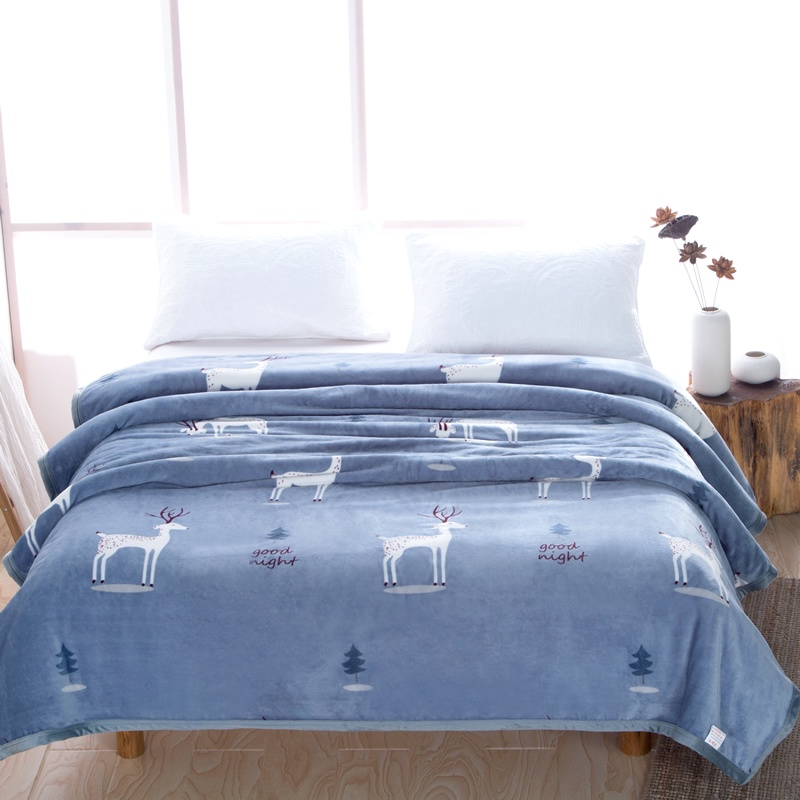 Winter air-conditioned blanket coral velvet blanket single double thin flannel blanket towel is used by the office 牀 single nap