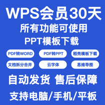 wps vip super 1-day meeting yuan pdf to word husk template office vip membership card Gold Mountain trial