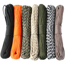 High-quality 31 meters military rules 7 core 550 umbrella rope army fans outdoor strapping rope safe escape rope emergency nylon rope.