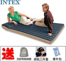 Authentic Intex Deluxe Double inflatable mattress Camping hoverboard outdoor tent bed thickened waterproof moisture-proof pad