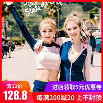 Swimsuit woman 2018 new split conservative shade skinny sexy small chest gather three set bubble hot spring bathing suit