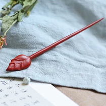 Budding leaflet Rosewood Sandalwood Rosewood handpiece Pendant Ancient style hairpin Wooden hairpin