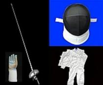 Fencing Equipment Heavy Sword Mask match clothing three set electric whole swords with hand line gloves to send the whole sword bag